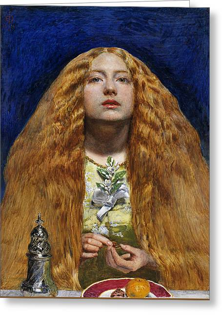 The Bridesmaid, 1851 Greeting Card by Sir John Everett Millais