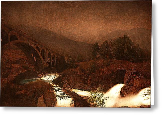 The Bridge Greeting Card by Jeff Burgess