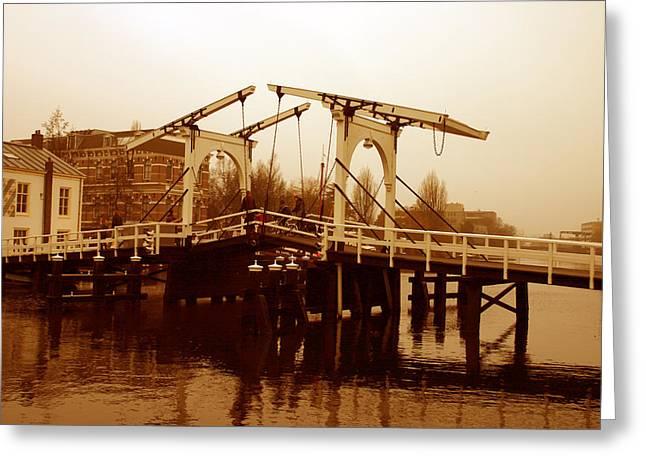 The Bridge Greeting Card by Menachem Ganon