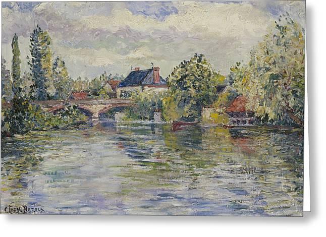 The Bridge Of Garennes Greeting Card