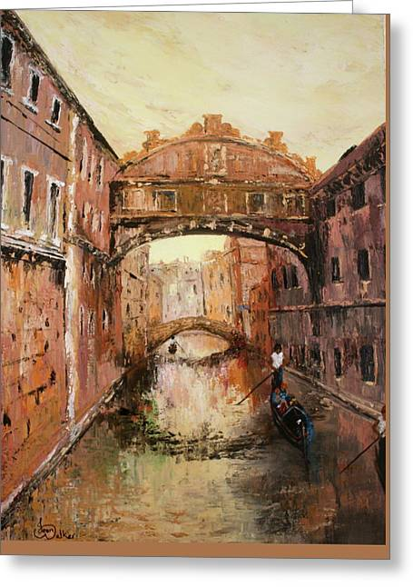 The Bridge Of Sighs Venice Italy Greeting Card by Jean Walker