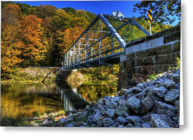 The Bridge Over Beaver Creek Greeting Card