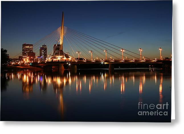 The Bridge Over Calm Waters Greeting Card by Teresa Zieba