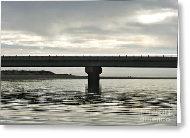 Greeting Card featuring the photograph The Bridge by Paul Foutz