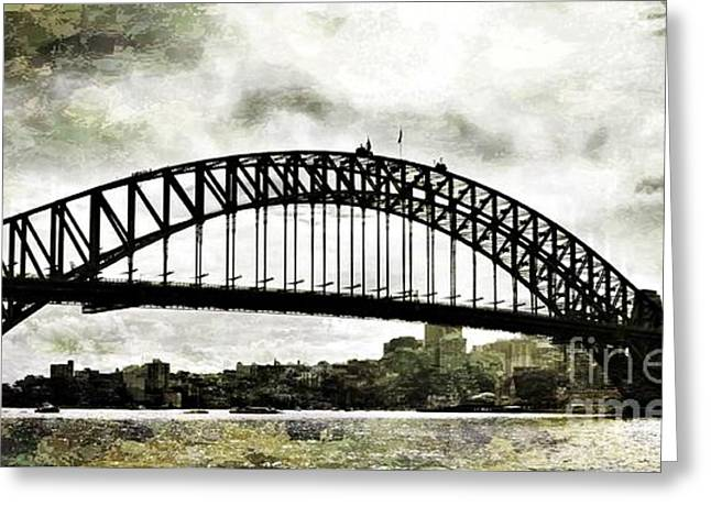 The Bridge Spattled Greeting Card