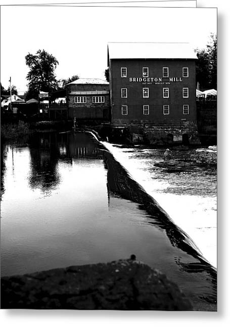 The Bridgeton Mill By Earl's Photography Greeting Card by Earl  Eells a