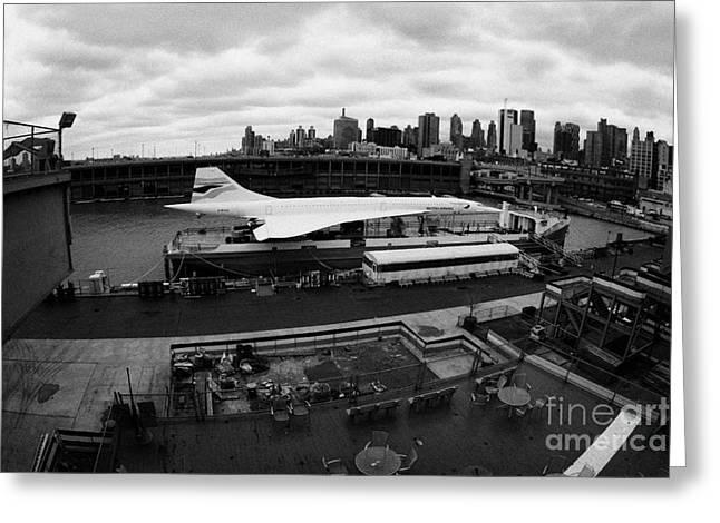 the British Airways Concorde exhibit new york Greeting Card