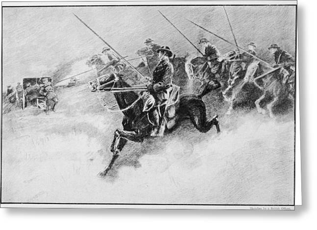 The British Cavalry In Action As Late Greeting Card by Mary Evans Picture Library