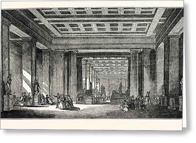 The British Museum, The Egyptian Saloon, London, Uk, Britain Greeting Card