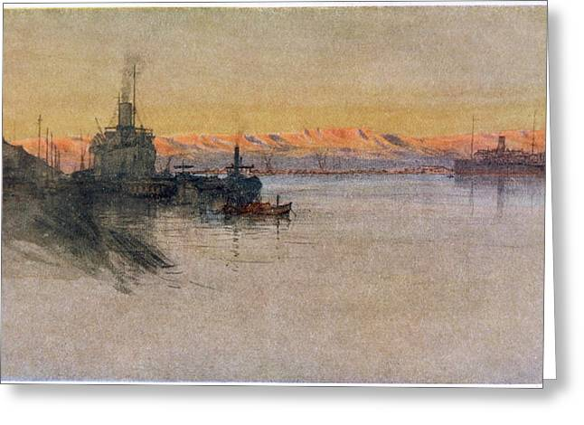 The British Transport Ships  'erma' Greeting Card by Mary Evans Picture Library