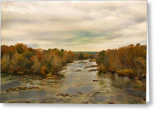 The Broad River Greeting Card by Steven Richardson