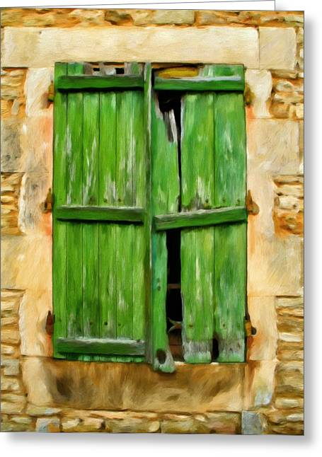 The Broken Shutters Greeting Card by Michael Pickett