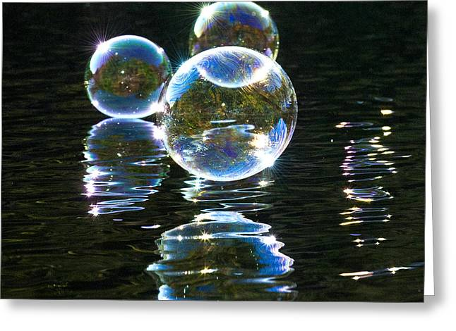 The Bubble Worlds Greeting Card