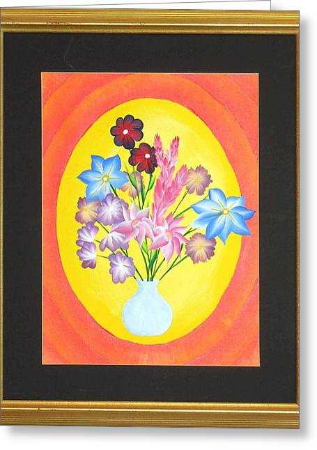 Greeting Card featuring the painting The Bud Vase by Ron Davidson