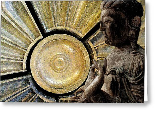 the Buddha  c2014  Paul Ashby Greeting Card by Paul Ashby