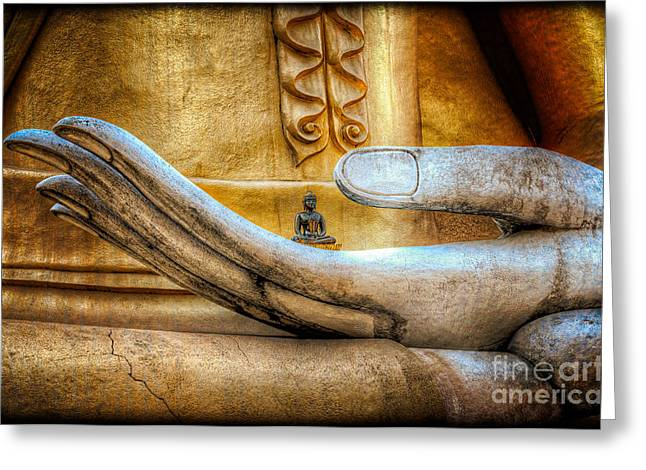 The Buddhas Hand Greeting Card
