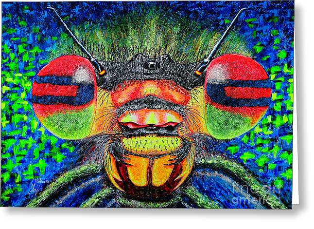 The Bug Greeting Card by Viktor Lazarev
