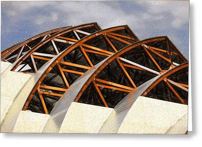 The Building Of Kauffman  Greeting Card by Liane Wright