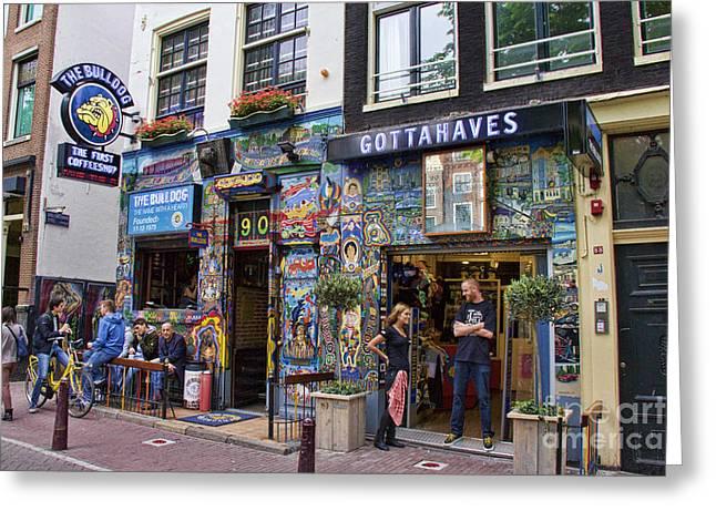 The Bulldog Coffee Shop - Amsterdam Greeting Card