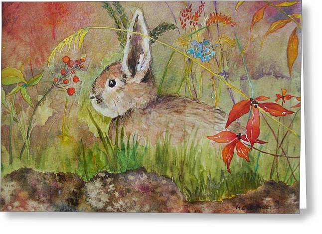 The Bunny Greeting Card by Mary Ellen Mueller Legault
