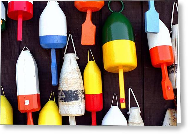The Buoys Of Maine  Greeting Card by Archie Reyes