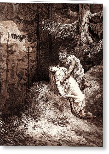 The Burial Of Atala, By Gustave Dore. Dore Greeting Card by Litz Collection