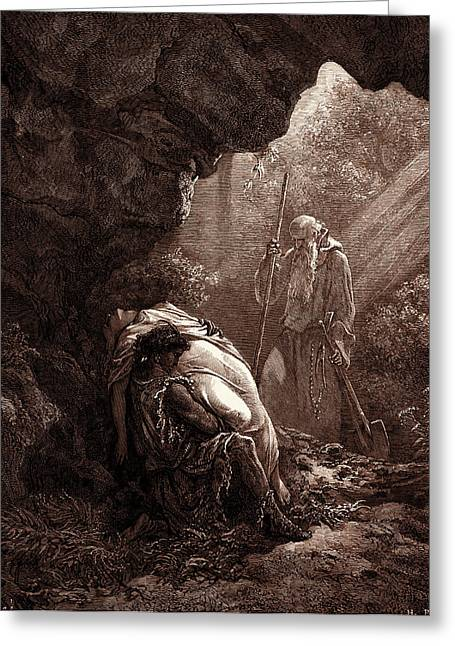 The Burial Of Atala, By Gustave Dore. Gustave Dore Greeting Card by Litz Collection