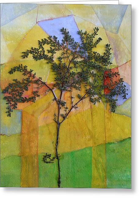 The Burn - Panel II Greeting Card by Sandra Gail Teichmann-Hillesheim