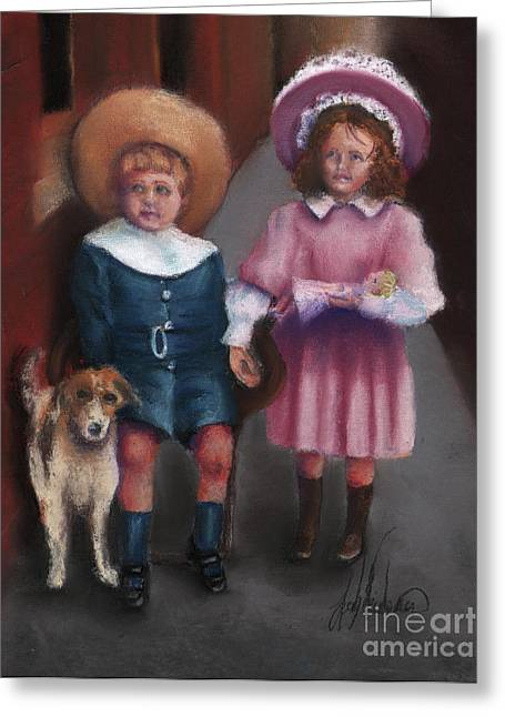 The Buster Browns Greeting Card by Leah Wiedemer
