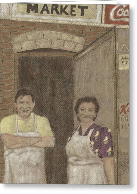 The Butcher And His Wife  Greeting Card