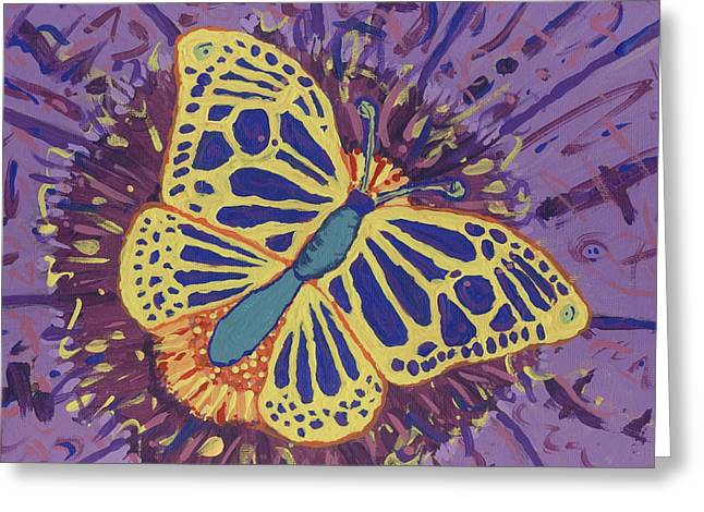 Greeting Card featuring the painting The Butterfly Conspiracy by Yshua The Painter