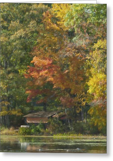 The Cabin At Cherry Brook Greeting Card by Jean-Pierre Ducondi