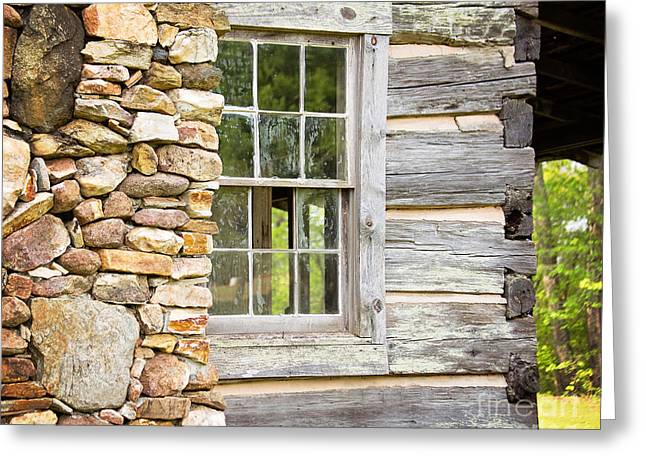 The Cabin Window Greeting Card
