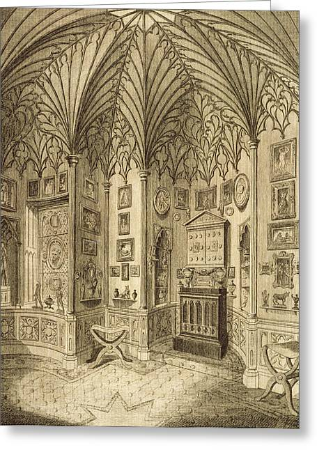 The Cabinet, Engraved By T. Morris Greeting Card by English School