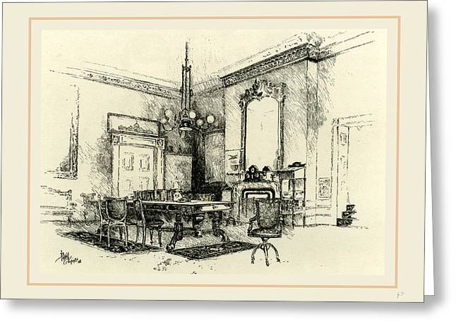The Cabinet Room, White House, 19th Century Greeting Card