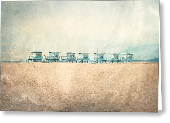 Venice Cabins Greeting Card
