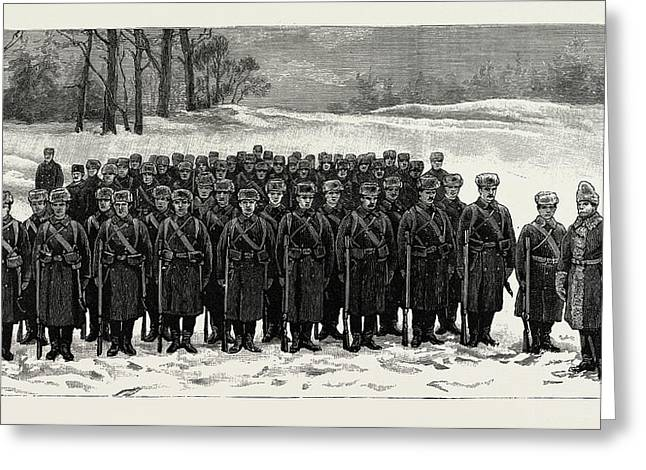 The Cadets In Winter -costume, British Naval Defences Greeting Card