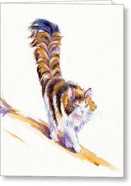 The Calico Cat That Walked By Himself Greeting Card