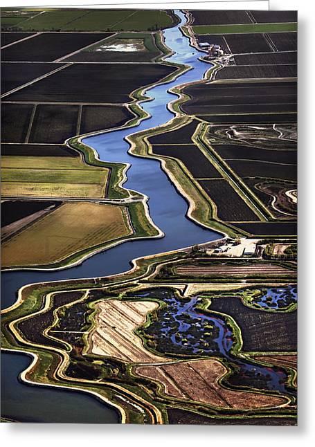 The California Delta Greeting Card by Adrian Mendoza