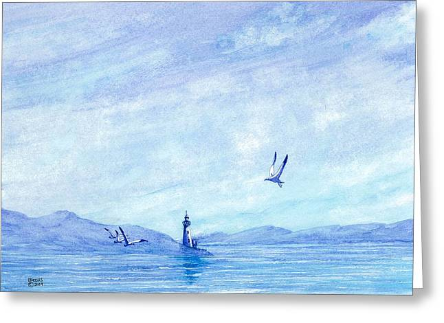 The Calm. Greeting Card by Richard Brooks