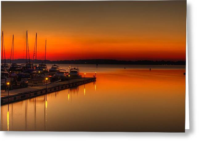 Greeting Card featuring the photograph The Calm by Serge Skiba