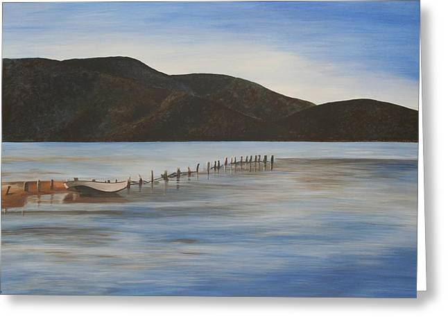 The Calm Water Of Akyaka Greeting Card by Tracey Harrington-Simpson