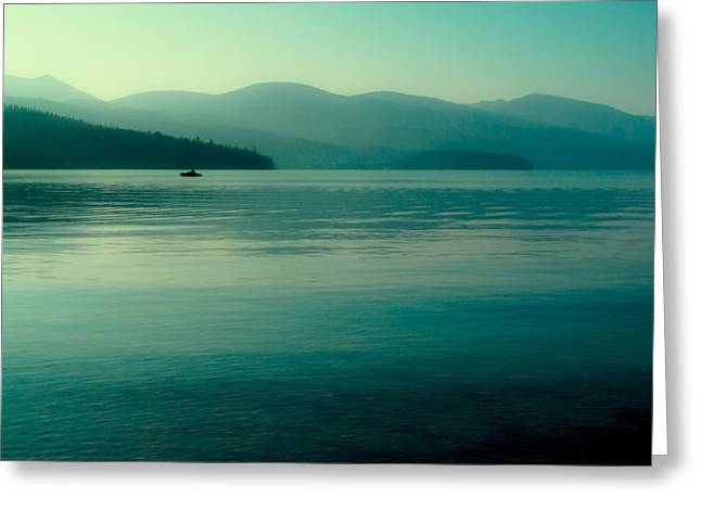 The Calmness Of Priest Lake Greeting Card by David Patterson