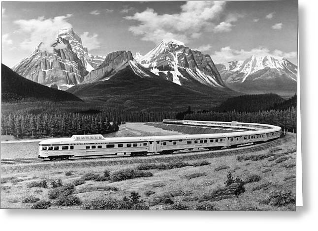 the Canadian Train Greeting Card by Underwood Archives