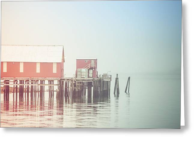 The Cannery In Fog Greeting Card