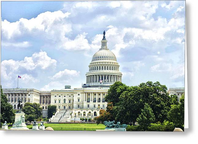 The Capitol Building Greeting Card by Sandra Welpman