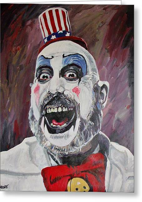 Rob zombie greeting cards fine art america the captain greeting card bookmarktalkfo Images