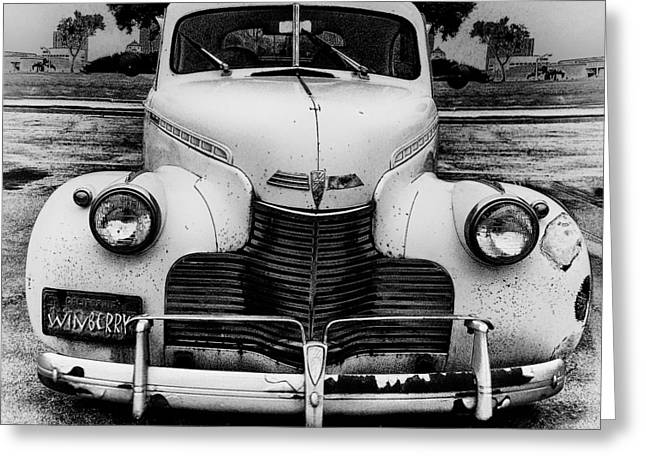 The Car In Texas Greeting Card