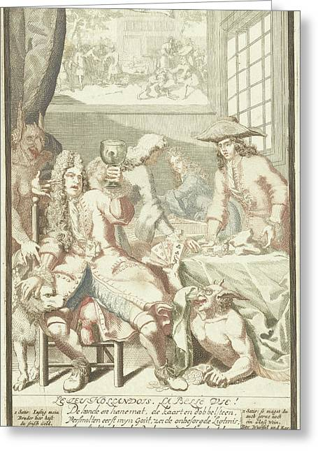 The Card Game, Pieter Van Den Berge Greeting Card by Pieter Van Den Berge