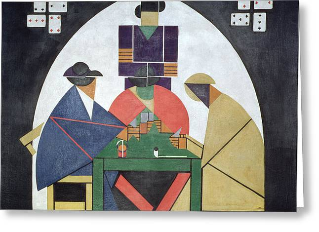 The Card Players, 191617 Greeting Card by Theo van Doesburg